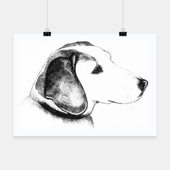 Thumbnail image of Beagle dog poster, Live Heroes