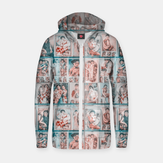 Miniaturka Asian Illustration Posters Collage Zip up hoodie, Live Heroes