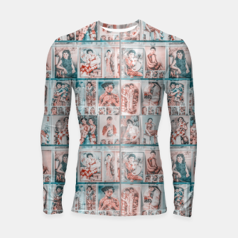 Miniaturka Asian Illustration Posters Collage Longsleeve rashguard , Live Heroes