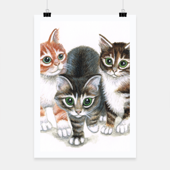 Thumbnail image of three kittens poster, Live Heroes
