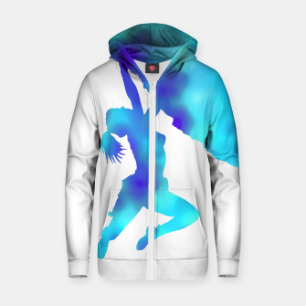 Thumbnail image of blue bouldering ecstacy zip up hoody, Live Heroes