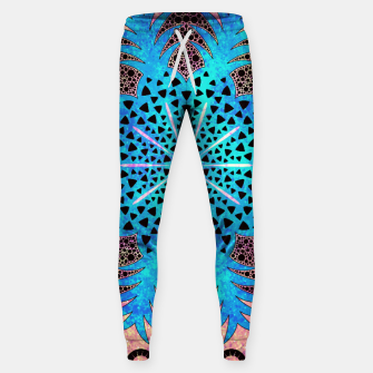 Thumbnail image of Blissful Pineapple | Vibrant Abstract Flower And Pineapple Mandala Pattern Design Sweatpants, Live Heroes