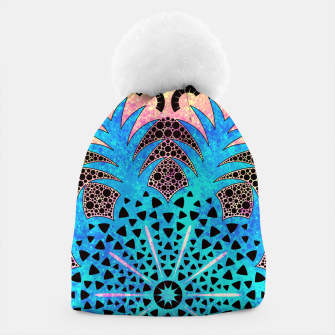 Thumbnail image of Blissful Pineapple | Vibrant Abstract Flower And Pineapple Mandala Pattern Design Beanie, Live Heroes