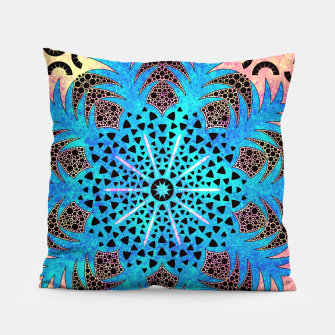 Thumbnail image of Blissful Pineapple | Vibrant Abstract Flower And Pineapple Mandala Pattern Design Pillow, Live Heroes