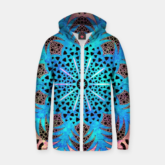 Thumbnail image of Blissful Pineapple | Vibrant Abstract Flower And Pineapple Mandala Pattern Design Zip up hoodie, Live Heroes