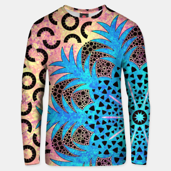 Thumbnail image of Blissful Pineapple | Vibrant Abstract Flower And Pineapple Mandala Pattern Design Unisex sweater, Live Heroes