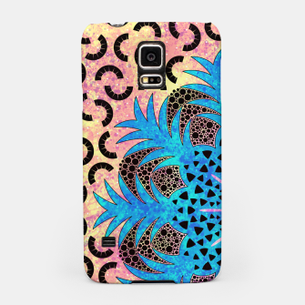 Thumbnail image of Blissful Pineapple | Vibrant Abstract Flower And Pineapple Mandala Pattern Design Samsung Case, Live Heroes