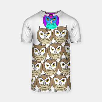 Miniatur dare to be different (owls) t shirt, Live Heroes