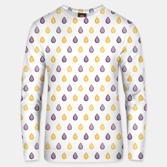 Thumbnail image of Purple and yellow raindrops pattern Unisex sweater, Live Heroes