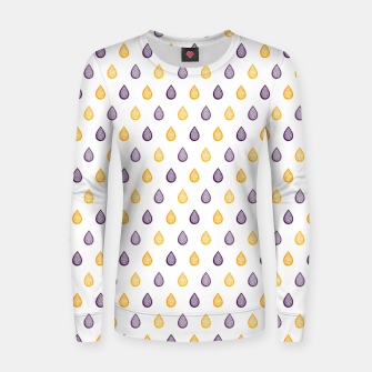Thumbnail image of Purple and yellow raindrops pattern Women sweater, Live Heroes