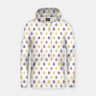 Thumbnail image of Purple and yellow raindrops pattern Hoodie, Live Heroes