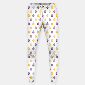 Thumbnail image of Purple and yellow raindrops pattern Sweatpants, Live Heroes