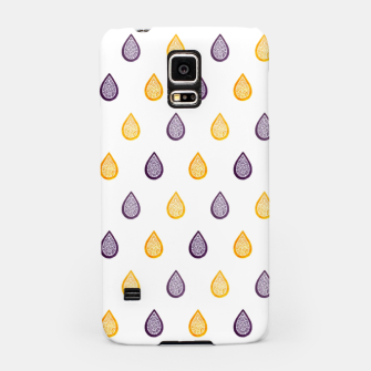Thumbnail image of Purple and yellow raindrops pattern Samsung Galaxy Case, Live Heroes