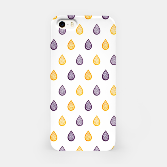 Thumbnail image of Purple and yellow raindrops pattern iPhone Case, Live Heroes