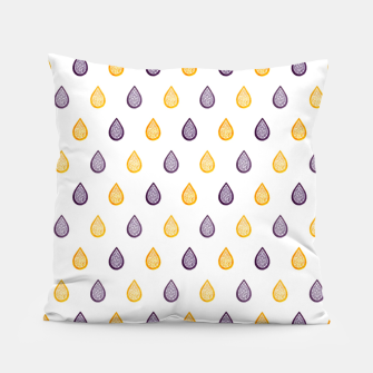Thumbnail image of Purple and yellow raindrops pattern Pillow, Live Heroes
