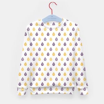 Thumbnail image of Purple and yellow raindrops pattern Kid's sweater, Live Heroes