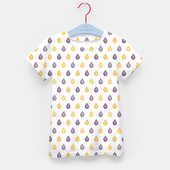 Thumbnail image of Purple and yellow raindrops pattern Kid's t-shirt, Live Heroes