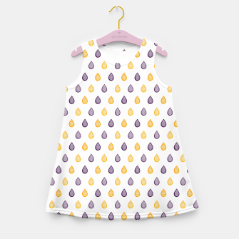 Thumbnail image of Purple and yellow raindrops pattern Girl's summer dress, Live Heroes