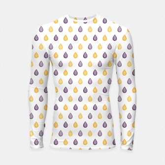 Thumbnail image of Purple and yellow raindrops pattern Longsleeve rashguard , Live Heroes