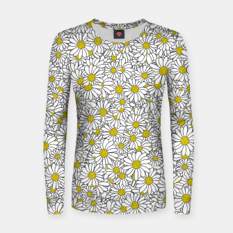 Thumbnail image of Daisy Doodle Pattern Women sweater, Live Heroes