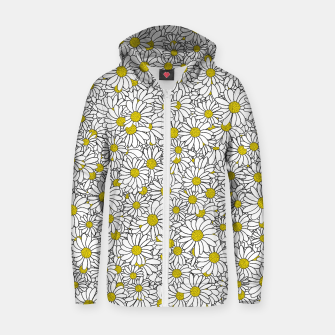 Thumbnail image of Daisy Doodle Pattern Zip up hoodie, Live Heroes