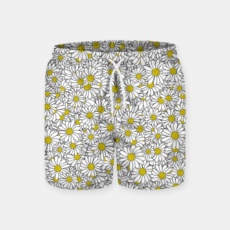 Thumbnail image of Daisy Doodle Pattern Swim Shorts, Live Heroes