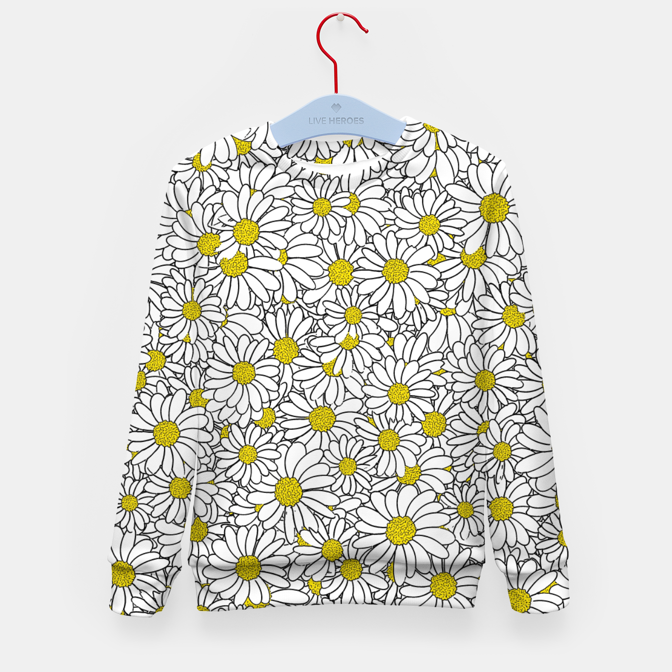 Image of Daisy Doodle Pattern Kid's sweater - Live Heroes