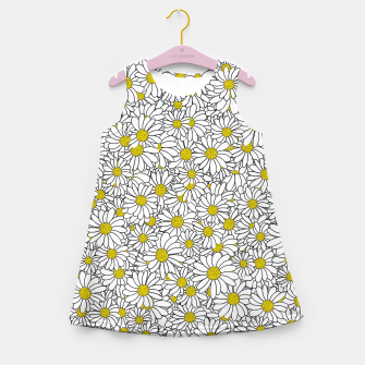 Miniatur Daisy Doodle Pattern Girl's summer dress, Live Heroes