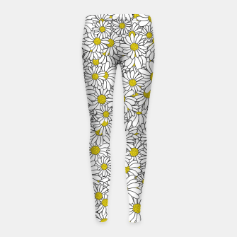 Thumbnail image of Daisy Doodle Pattern Girl's leggings, Live Heroes