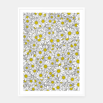 Miniatur Daisy Doodle Pattern Framed poster, Live Heroes