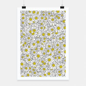 Miniatur Daisy Doodle Pattern Poster, Live Heroes
