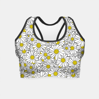 Thumbnail image of Daisy Doodle Pattern Crop Top, Live Heroes