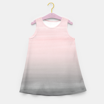 Thumbnail image of Touching Blush Gray Watercolor Abstract #2 #painting #decor #art  Mädchen-Sommerkleid, Live Heroes