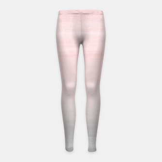 Thumbnail image of Touching Blush Gray Watercolor Abstract #2 #painting #decor #art  Kinder-Leggins, Live Heroes