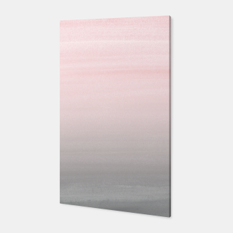 Thumbnail image of Touching Blush Gray Watercolor Abstract #2 #painting #decor #art  Canvas, Live Heroes