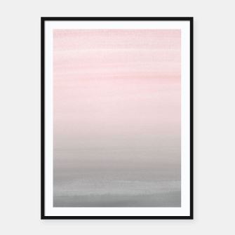 Thumbnail image of Touching Blush Gray Watercolor Abstract #2 #painting #decor #art  Plakat mit rahmen, Live Heroes