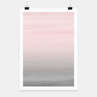 Thumbnail image of Touching Blush Gray Watercolor Abstract #2 #painting #decor #art  Plakat, Live Heroes