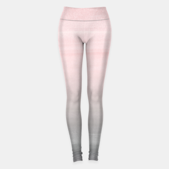 Thumbnail image of Touching Blush Gray Watercolor Abstract #2 #painting #decor #art  Leggings, Live Heroes