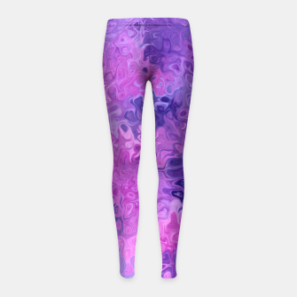 Thumbnail image of Twists and Turns Girl's leggings, Live Heroes
