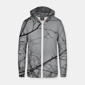 Miniatur Branches impressions Zip up hoodie, Live Heroes