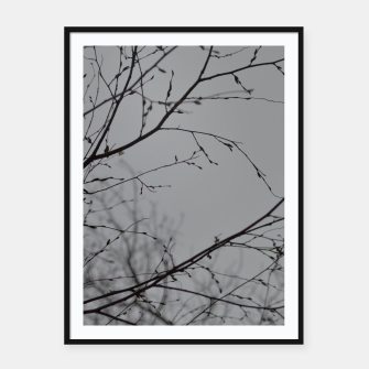 Miniatur Branches impressions Framed poster, Live Heroes