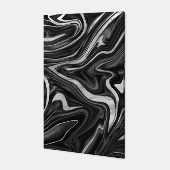Thumbnail image of Black Gray White Silver Marble #1 #decor #art  Canvas, Live Heroes