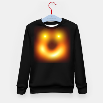 Thumbnail image of Happy Black Hole Kid's sweater, Live Heroes
