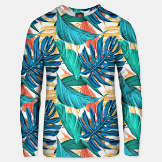 Thumbnail image of Colorful Tropical Jungle Leaves Unisex sweater, Live Heroes