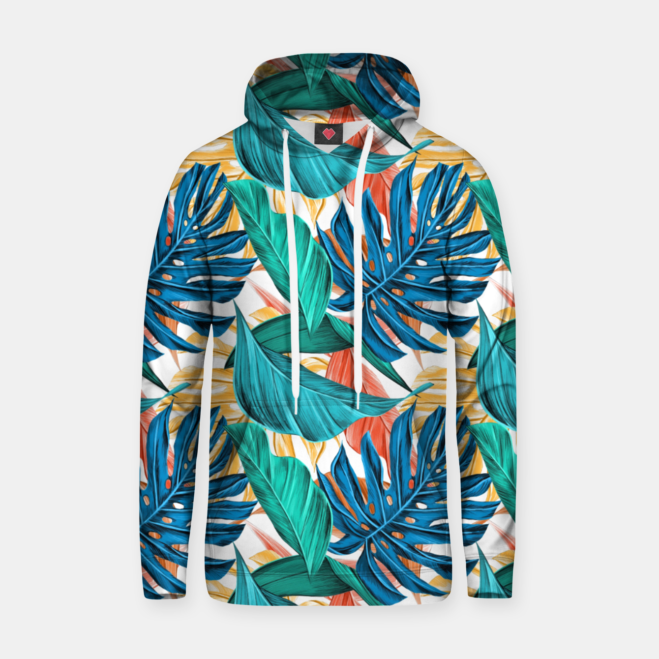Image of Colorful Tropical Jungle Leaves Hoodie - Live Heroes