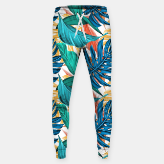 Thumbnail image of Colorful Tropical Jungle Leaves Sweatpants, Live Heroes