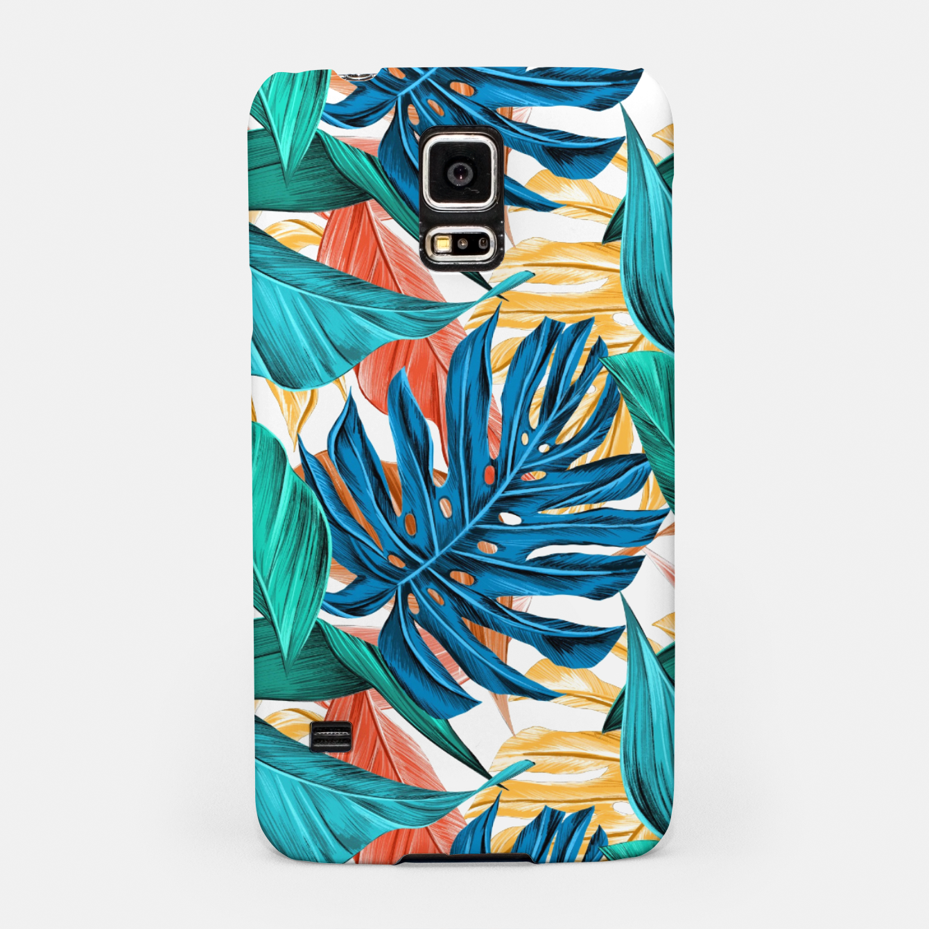 Image of Colorful Tropical Jungle Leaves Samsung Case - Live Heroes