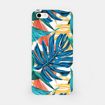 Colorful Tropical Jungle Leaves iPhone Case thumbnail image