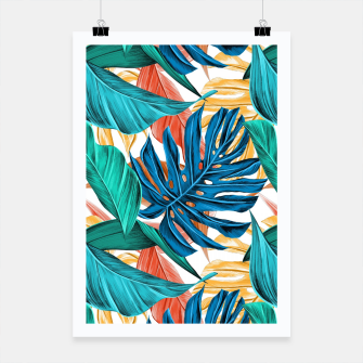 Colorful Tropical Jungle Leaves Poster thumbnail image
