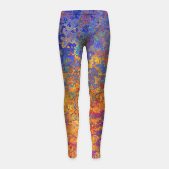Thumbnail image of Vintage Texture Girl's leggings, Live Heroes
